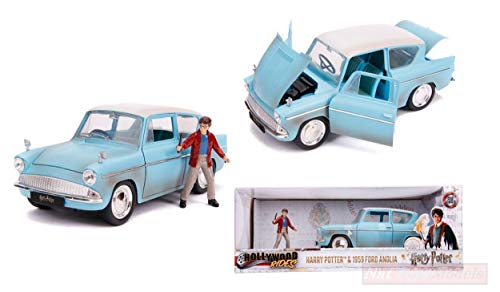 NEW Jada Toys JADA31127 Ford Anglia 1959 Harry Potter 1:24 MODELLINO Die Cast Model
