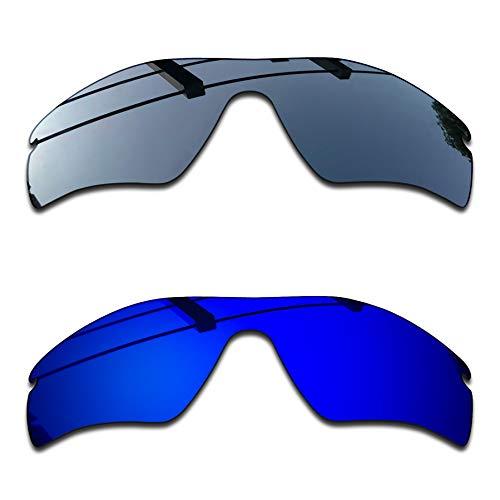 SEEABLE Premium Polarized Mirror Replacement Lenses for Oakley Radar Path Sunglasses - Black Chrome Mirror+Dark Blue Mirror