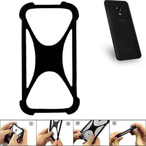 K-S-Trade® Handyhülle Für UMIDIGI C2 Schutz Hülle Silikon Bumper Cover Case Silikoncase TPU Softcase Schutzhülle Smartphone Stoßschutz, Schwarz (1x),