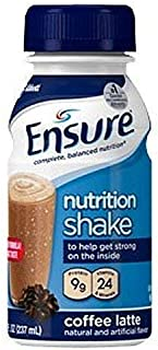 Ensure Original Therapeutic Nutrition, Coffee Latte, 8 oz Bottles - 1/Case of 24