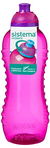 Sistema Hydrate Twist  n  Sip - Botella de plastico, Rosa, 460 ml, 1 unidad
