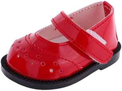 Jili Online 1 Pair of Trendy Red Mary Janes Shoes for 18inch American Doll Journey My Life Doll product image