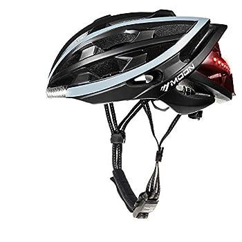 MOON Cycling Helmet with Wireless Turn Signal Bicycle Helmets Bike Helmet Men Women Only 270g Waterproof Helmet&Remote 10H Working Time