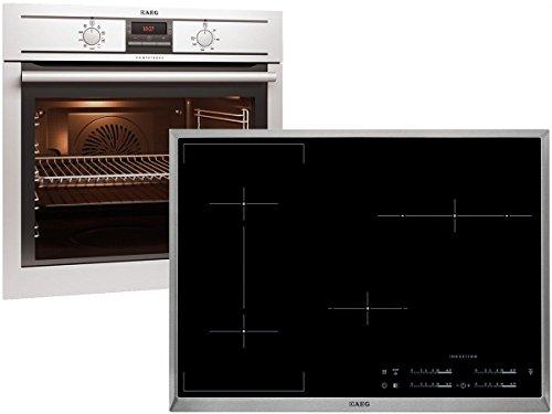 AEG BE31988 Set BE3003001M + Induktion Kochfeld HK854420X-B Auflage Einbauherd