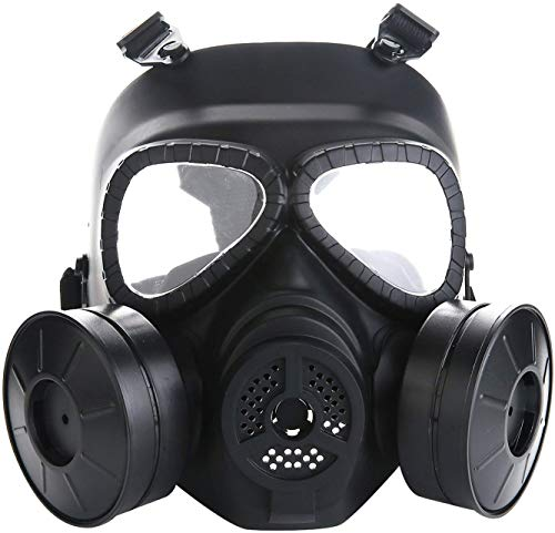 Sutekus M04 Airsoft Mask Full Face Skull CS Mask with Fan (2 Fans)
