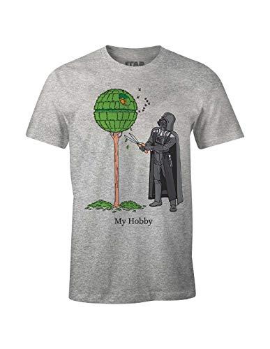 cotton division Meswclats025 Camiseta, Brezo Gris, XL para Hombre