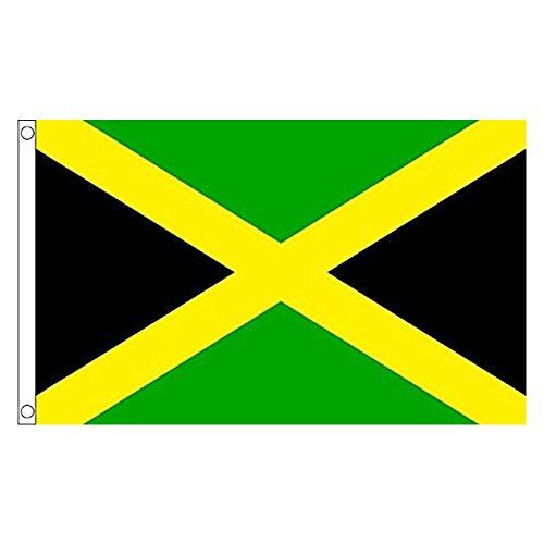 Bandiera della Giamaica 5 * 3ft / 150 * 90cm Bandiera in Poliestere Ideale per Esterni e Interni Grande Bandiera Giamaicana