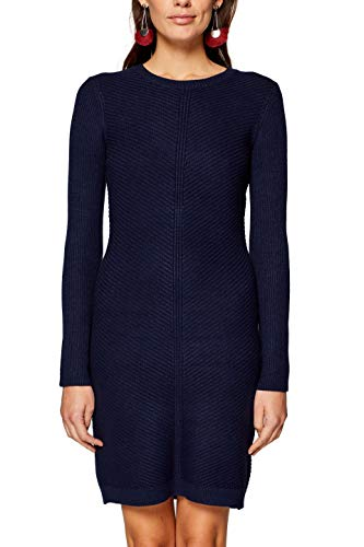edc by ESPRIT Damen 998CC1E801 Kleid, Blau (Navy 400), Large