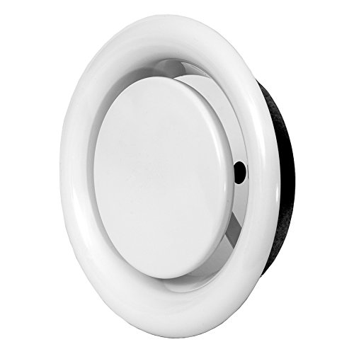 Ø 100mm Weiß Tellerventil Abluft Deckenventil Ventil Belüftung aus Stahlblech