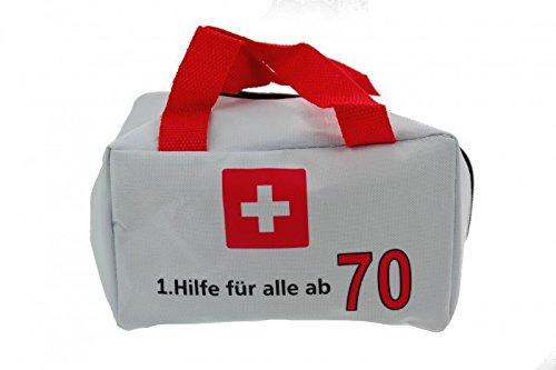 Udo Schmidt Geburtstags Tasche 1.Hilfe für alle ab 70 Jahre Party Deko Geburtstagstasche