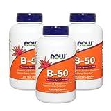 3個セット ビタミンB-50 250 Veg Capsules 250粒 [海外直送品]