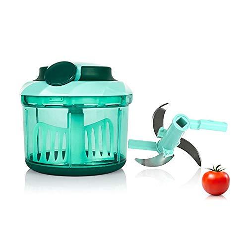 Picadora Manual,1000ml Picadora de Carne,3 Cuchillas Picadora de Alimentos, Cortador de Verduras para Picar Frutas,Frutos Secos,Hierbas,Cebolla