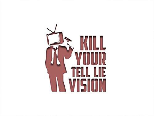 PixieBitz Kill Your Tell Lie Vision ST-ML-TR-00001 Schablone – 30,5 x 20,3 cm – 190Mu Mylar A, Airbrushing, Basteln, Grafitti