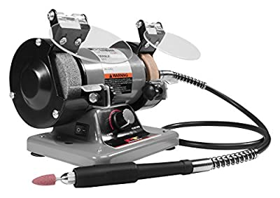 "Performance Tool - 3"" Portable Bench Grinder (W50003) Power Tools - Corded"