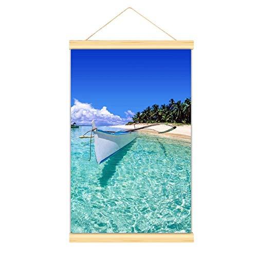 Foto-Tapete mit Boot und Strand auf Dako Insel, Phillipinen, geeignet für Cartoon-Charaktere, Tanzsaal