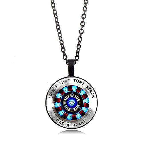 LHXMY Collar con gema del tiempo para coleccionar energía, collar con colgante de moda, cadena de suéter, color negro
