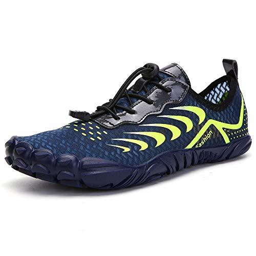 YLiansong-home Zapatos de Agua Señoras de Escalada al Aire Libre Zapatos de Agua Playa Zapatos de Buceo natación para Nadar (Color : Blue, Tamaño : 43)