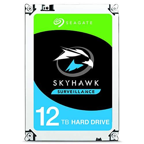 Seagate St12000vxz0088,9cm 12to Skyhawk Disque Dur Interne pour 1–64Caméras de Surveillance des systèmes–Argent