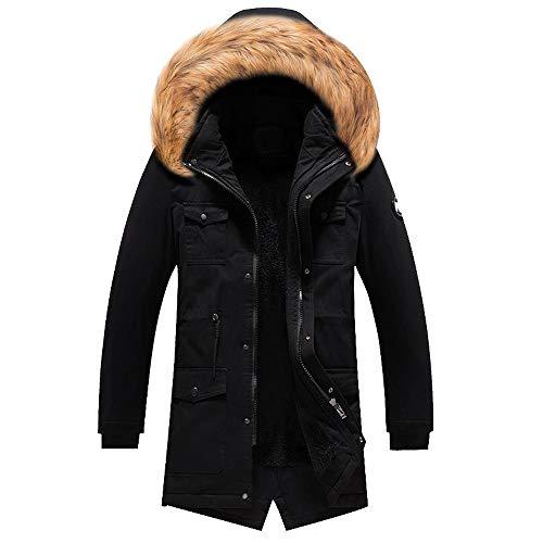 Heren Jassen Winter pluizige Hooded Plus Size Big Sale! Jiayit Mannen Winter Camouflage Warm Oversized Jas Slanke Lange Trench Knopen Rits Jas Groot