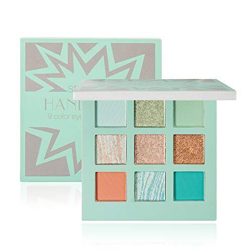 2 cajas de 16 horas sombra de ojos de cuatro colores, con cepillo aplicador de doble extremo, maquillaje de ojos suave de color duradero, adecuado para el día y la noche