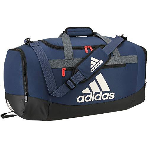 adidas Defender 4 - Bolsa de Deporte (tamaño Mediano), Color Azul/Azul Marino/Negro/Aluminio/Rojo Tripulación, tamaño Talla única