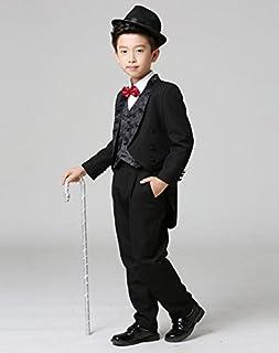 (マリア)MARIAH 子供タキシード フォーマル スーツ 男の子 キッズ ベスト set 結婚式 発表会 七五三 4点セット