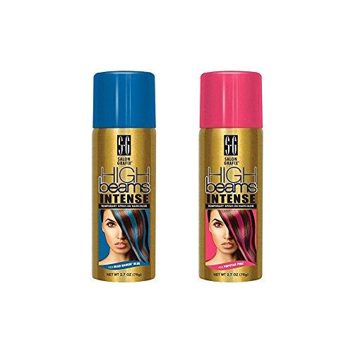 High Beams Intense Temporary Spray Hair Color Popstar Pink & Head Bangin Blue Set