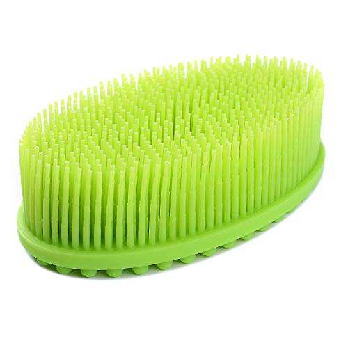 Silicone Loofah Body Scrubber, Exfoliating Silicone Bath Shower Scrubber, Kids Adult Bath Body Brush to Improve Your Blood Circulation for Gentle Exfoliating on Softer Skin, Gentle Massage