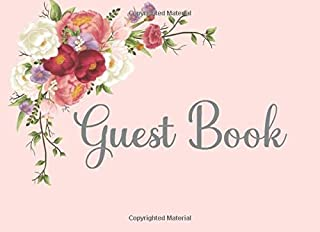 Guest Book: Peony Sign In Guest Book Great for Bridal, Anniversaries, Baby Shower, Memorial Service