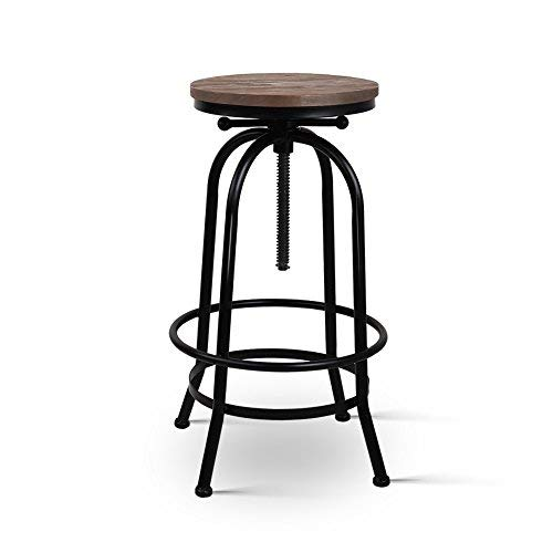Artiss Vintage Industrial Bar Stool Retro Round Kitchen Counter Dining Chair
