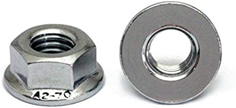 (10) M8 x 1.25 Stainless Steel Hex Flange Nuts, Metric Coarse DIN 6923 18-8 (A2) - MonsterBolts (10, M8 x 1.25)