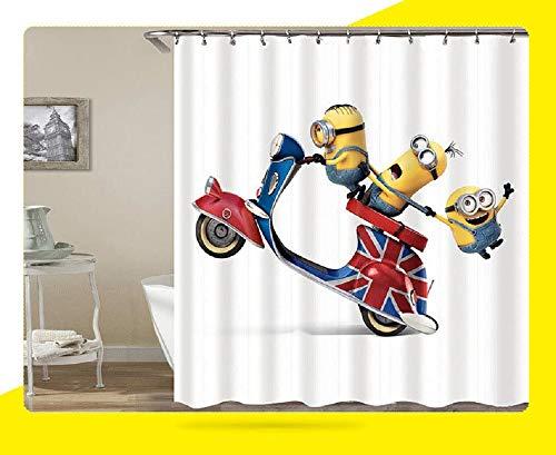 Duduxingyellow Duschvorhänge Mischievous Minions Serie Duschvorhänge Bad Vorhang Polyester Wasserdicht Bad Vorhang E Stil 72