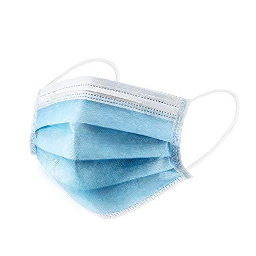 50 Stück Einweg Maske Gesichtsmaske Vlies Einwegmaske Mundschutz Staubschutz mit Ohrschlaufen