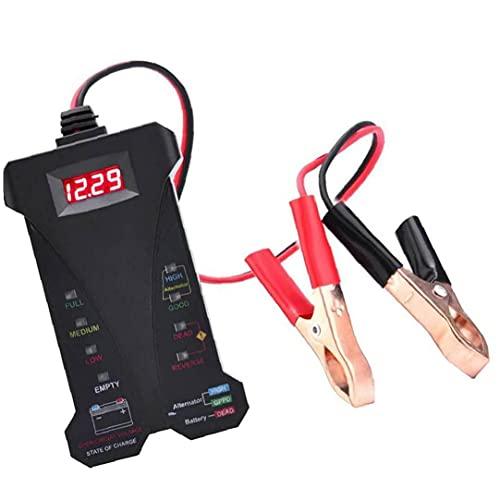 Probador de batería de automóviles 12V Digital LCD Sistema de carga Analizador de sistema con indicación LED Alta precisión para industrial