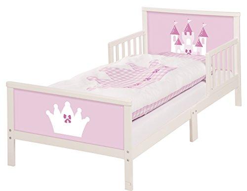 roba Themenbett 'Castle', Kinderbett 70x140cm inkl. Bettwäsche für Mädchen