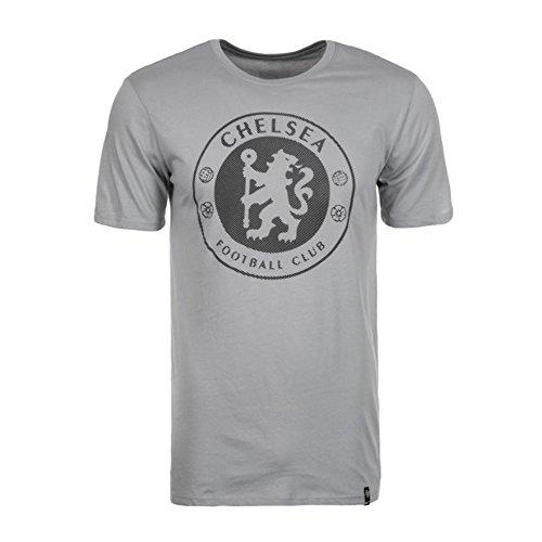 2017-2018 Chelsea Nike Core Badge Tee (Grey)
