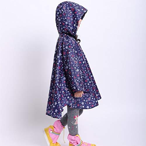 EWQG-Pfanne Dünner Umhang Regenmantel Für Kinder und Mädchen, Tragbarer Wasserdichter 100% Regen Poncho, Camping, Wandern, Outdoor, Disney -AA Schutz Overall (Farbe : H, Size : M)