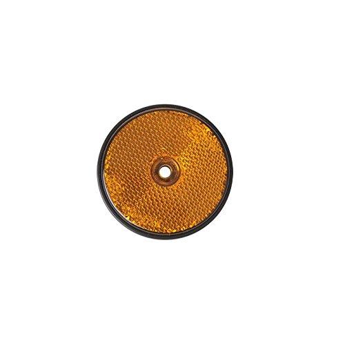DKB Reflektor - Rund Ø 60 mm Rückstrahler - Orange f Hänger Trailer Reflektor Katzenauge