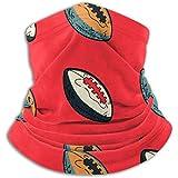 Linger In Écharpe de Conception Originale de Cou de Ballon de Rugby, Cache-Cou, Cache-Cou Demi-Masque Cagoule