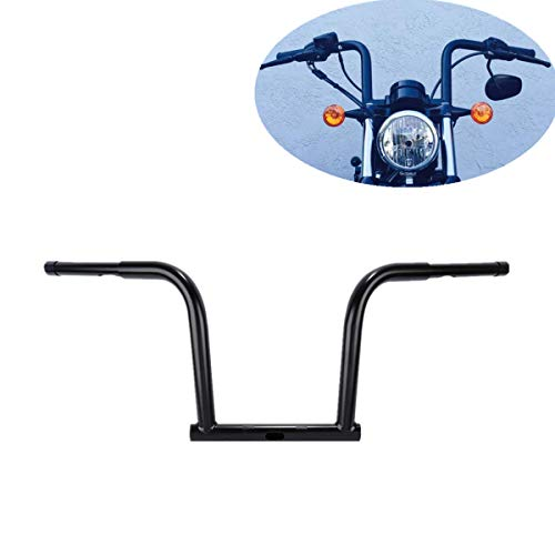 TCMT 12' Rise Handlebar Black Fits For Harley Dyna Street Fat Bob Wide Glide Low Rider S