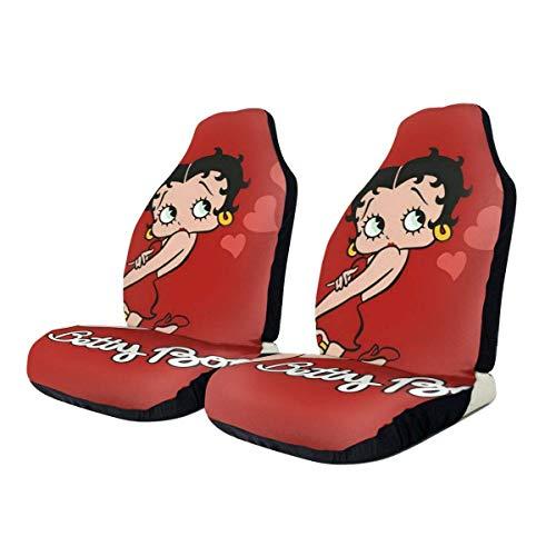 LVOE TTL Betty Boop Protectores de Asiento de Coche Pistas de neumáticos Accesorios de Asiento de Coche para la mayoría