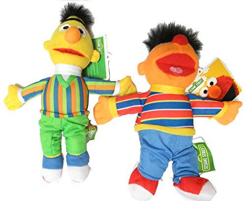 Sesamstraße Paar 2 Plüsch 20cm Bert und Ernie Original Offizielle Muppets Sesame Street