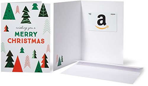 Amazon.com $10 Gift Card in a Greeting Card (Christmas Tree)