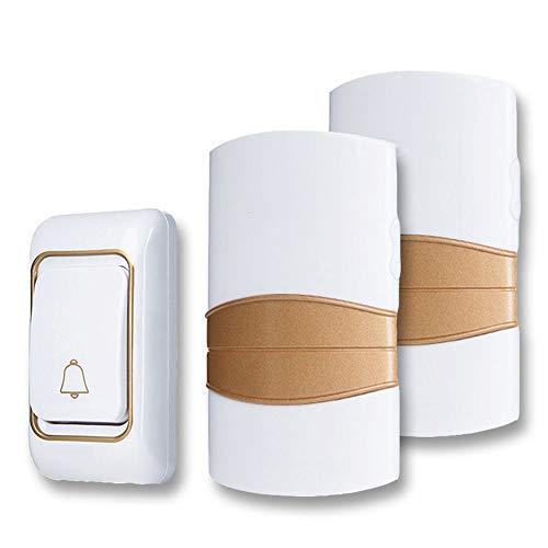 Draadloze deurbel AC 220 V waterdicht met 36  ringen 4 volume deurbel 300 meter verrekijker 1x2
