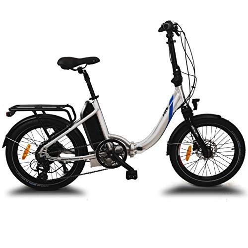 "URBANBIKER 20"" E-Bike KLAPPRAD ELEKTROFAHRRAD FALTRAD Mini Modell, 250 W Motor, 36V 14AH 504WH AKKU, Silber"