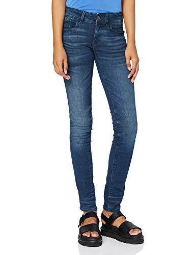 G-STAR RAW Damen Lynn Mid Waist Skinny Jeans, Blau (medium aged 6550-071), 30W / 34L