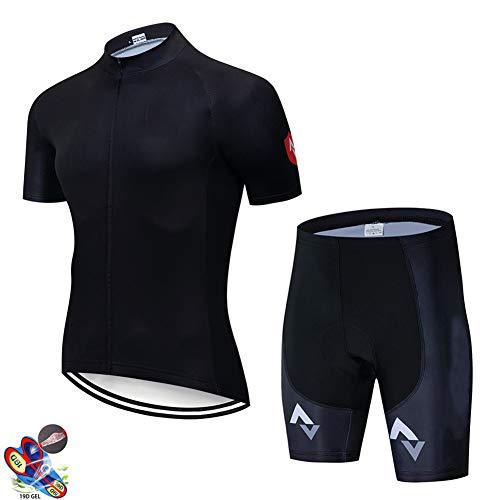 Zcbm Maillot Ciclismo Hombre con 9D Gel Acolchado Ciclismo Maillots Tirantes Culotte Pantalones Cortos Culotes para Deportes Al Aire Libre Ciclo Bicicleta,C,S
