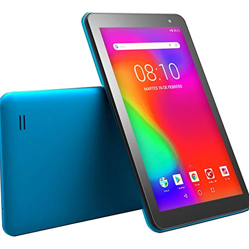 "Woxter X-70 - Tablet (7"", HD, CPU mediatek Quad Core Cortex A35, 1.3 GHz de 64 bits, Micro HDMI, Android 8.1, Bluetooth, Wi-FI, 8Gb, Micro SD) Color Azul"