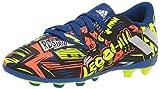 adidas Boy's Nemeziz Messi 19.4 Firm Ground Soccer Shoe, Royal Blue/Silver/Yellow, 5 Little Kid