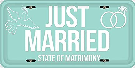 BleuReign(TM) Just Married Car Vehicle License Plate Auto Tag